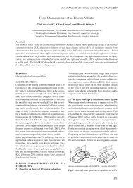 (PDF) Form Characteristics of an Electric Vehicle