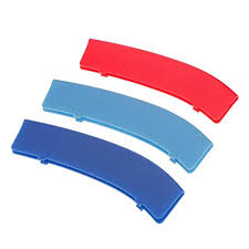 Magideal 3 <b>Color M</b> Style Grilles Buckle Cover For BMW 3-Series 11 ...