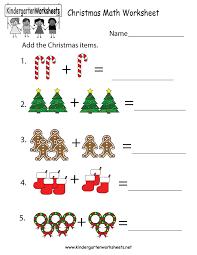 Christmas Math Worksheet - Free Kindergarten Holiday Worksheet for ...Kindergarten Christmas Math Worksheet Printable