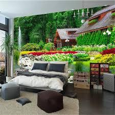 <b>beibehang</b> Custom Wallpaper Villa <b>Back Garden</b> View <b>Landscape</b> ...