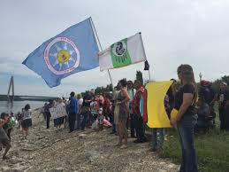 along the banks of the missouri river hundreds protest the dakota hundreds of people many of native american heritage gathered sunday at berkley riverfront park to protest the dakota access pipeline which has been