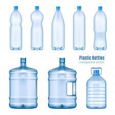 <b>Plastic water bottles</b> realistic set Vector | Free Download