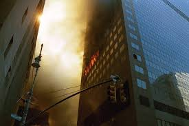 the facts about world trade center com the lower portion of eastern face of wtc 7 as seen from the corner of
