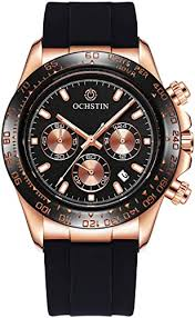 <b>OCHSTIN Men's</b> Luxury Fashion Silicone Strap Timed Date ...