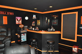 themed family rooms interior home theater: harley davidson themed theater contemporary family room