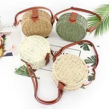 1 Pcs Woven Round Straw Bags Women Summer Rattan Bag ... - Vova