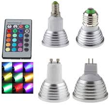 <b>GU10 LED Lamp E27</b> 220V RGB Spotlight Lampada 110V MR16 ...