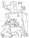 Раскраски сказки гуси-лебеди