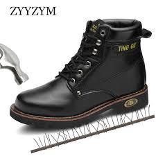 <b>ZYYZYM Men</b> Safety <b>Boots</b> Steel Toe <b>Shoes Men</b> Industrial ...