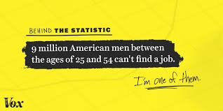 million american men in prime working age can t jobs i m some economists point to the recession and the slow job market recovery as the source of the problem this has certainly been the case for me