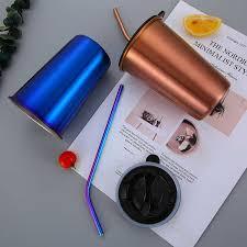 COOL Color Water Cup <b>304 Stainless Steel Coffee</b> Mugs Metal ...