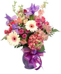 Hints of <b>Iris Flower</b> Arrangement in Tell City, IN - FLOWERS BY LES'A