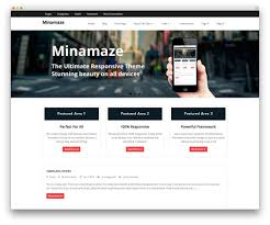 50 best responsive wordpress themes 2017 colorlib minamaze app showcase theme