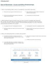 quiz worksheet cause and effect relationships study com print cause and effect relationship definition examples worksheet