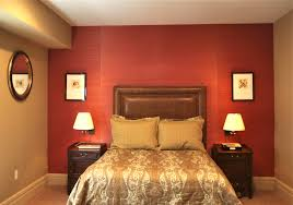 bedroom design red contemporary wood: remarkable red wall painted color bedroom with decorating red bedroom ideas with brown leather wall headboard