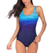 Plus Size <b>Sexy</b> Backless One-piece <b>Gradient Print</b> Swimwear ...
