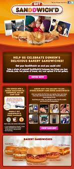 everything you need to run a successful social media contest dunkin donuts get sanddwich%27d resized 600