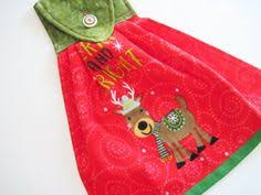 <b>Christmas Holly</b> Hanging Kitchen Dish Towel - <b>Xmas Floral</b> Dish ...