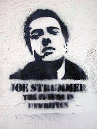 Joe Strummer stencil [Lyon, France]. Lyon 1er, Croix Rousse, montée de la grande côte. The future is unwritten [stencil]. (plus d'infos...) - 2272428756-joe-strummer-stencil-lyon-france