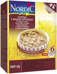 <b>Nordic хлопья 5</b> видов зерновых, 600 г — купить в интернет ...
