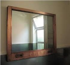 wood bathroom mirror digihome weathered: vintage window as mirror frame seen in the bathroom at flora grubb gardens in san