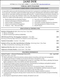 teacher resume template teacher resumes and resume templates on  click here to this visual arts teacher resume template
