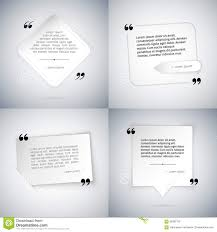 four simple quote templates stock vector image 58382132 four simple quote templates