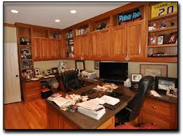 peninsula layout dual home office desks cherry wood and solid surface counter tops cherry custom home office desk