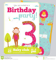 birthday party invitation card template cute stock vector birthday party invitation card template cute royalty stock photo