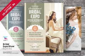 kinzi creative market bridal expo or show flyer template