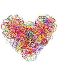 Seamless <b>8mm High Elastic</b> Cotton stretch Hair Ties Bands Rope ...