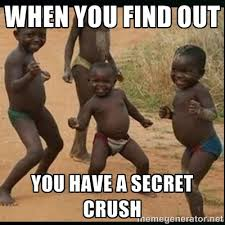 WHEN YOU FIND OUT YOU HAVE A SECRET CRUSH - Dancing black kid ... via Relatably.com