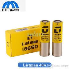 Authentic <b>Listman</b> IMR <b>18650 Battery 3000mAh</b> 40A Lithium <b>Battery</b> ...