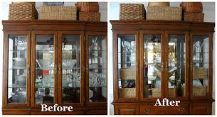 ideas china hutch decor pinterest: china cabinet before amp after baskets