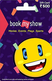 BookMyShow Gift Card-Rs.500: Amazon.in: Gift Cards