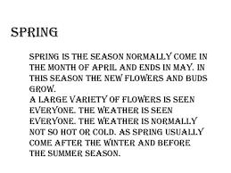 seasons in pakistanspring    summerafter spring summer season