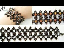 <b>Asymmetric Seed Beads</b> Bracelet   Beautiful Beaded Cuff Bracelet ...
