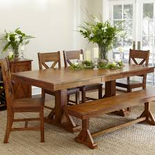 size upholstered dining room table bench  stylish brown stained mahogany dining table which furnished with sing