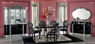 barocco black traditional dining set black lacquer dining room