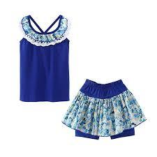 LittleSpring Little Girls Summer Clothes Floral Tank ... - Amazon.com