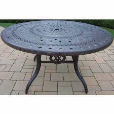 patio table and 6 chairs:  oakland living berkley  piece aged patio set with quot round table and  cushioned