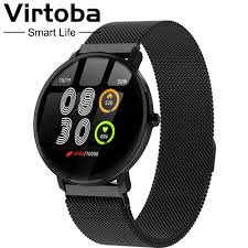 "<b>Virtoba</b> GT01 Smart Watch Men Women <b>1.3</b>"" <b>Full</b> Touch Tempered ..."