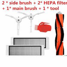 <b>6pcs Vacuum Cleaner</b> parts 2 * side brush + 2* <b>HEPA filter</b> + 1* main ...