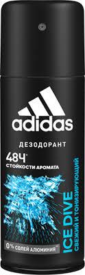 Дезодорант <b>ADIDAS</b> Ice Dive спрей муж – купить в сети ...