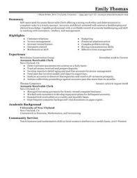 best accounts receivable clerk resume example   livecareeraccounts receivable clerk resume example