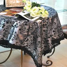 rectangular dining table cover cloth knitted vintage: lace table cloth blackampampsliver europe cottonampamplinen luxurious noble table cover wedding cover
