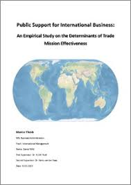 Public support for international business   an empirical study on the determinants of trade mission effectiveness