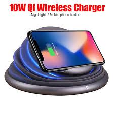 <b>Universal</b> LED Light Mood Flashing Wireless Charger Holder ...
