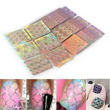 Misscheering 6 Boxes <b>3D Arrow</b> Design Nail <b>Art</b> Shining Bling Glitter ...