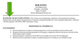 writing examples 6 sample professional summary resume